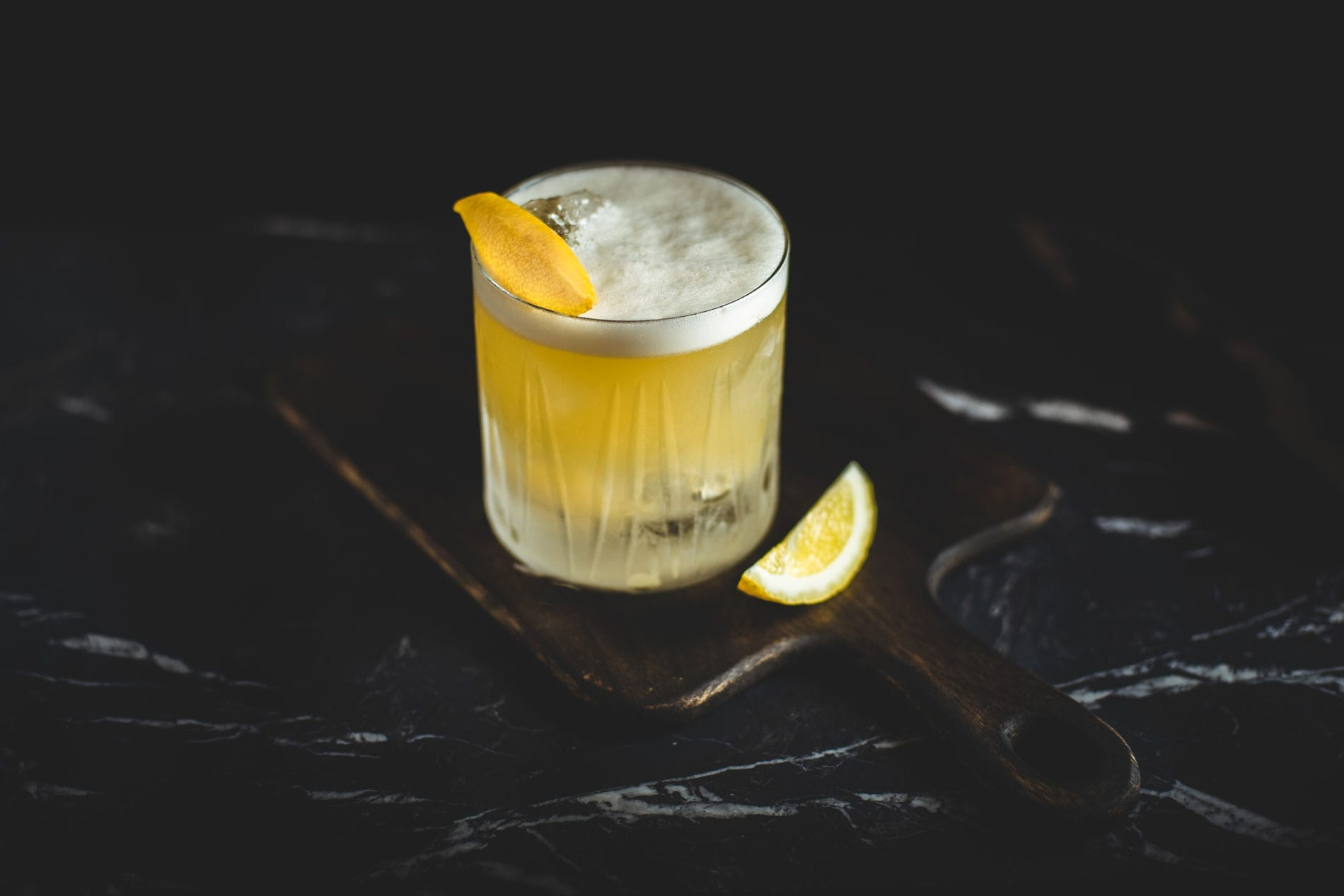 Whiskey Sour mit Eis